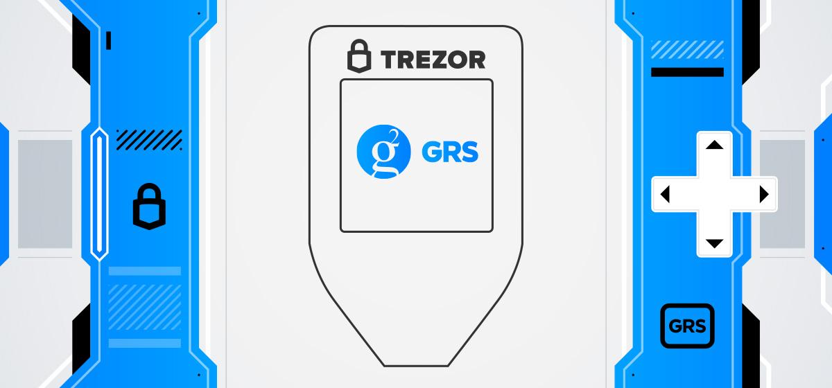 Groestlcoin Trezor T hardware wallet