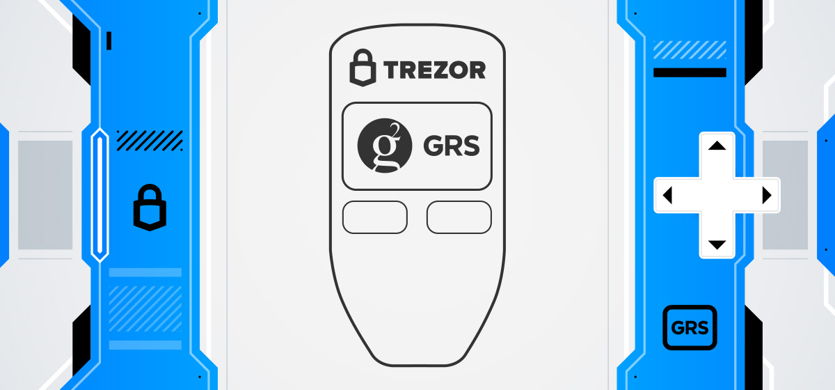 Groestlcoin Trezor One hardware wallet