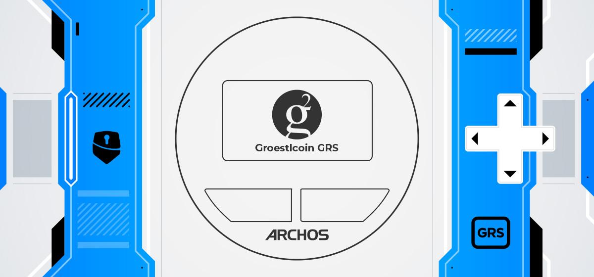Groestlcoin Archos Safe-T mini hardware wallet