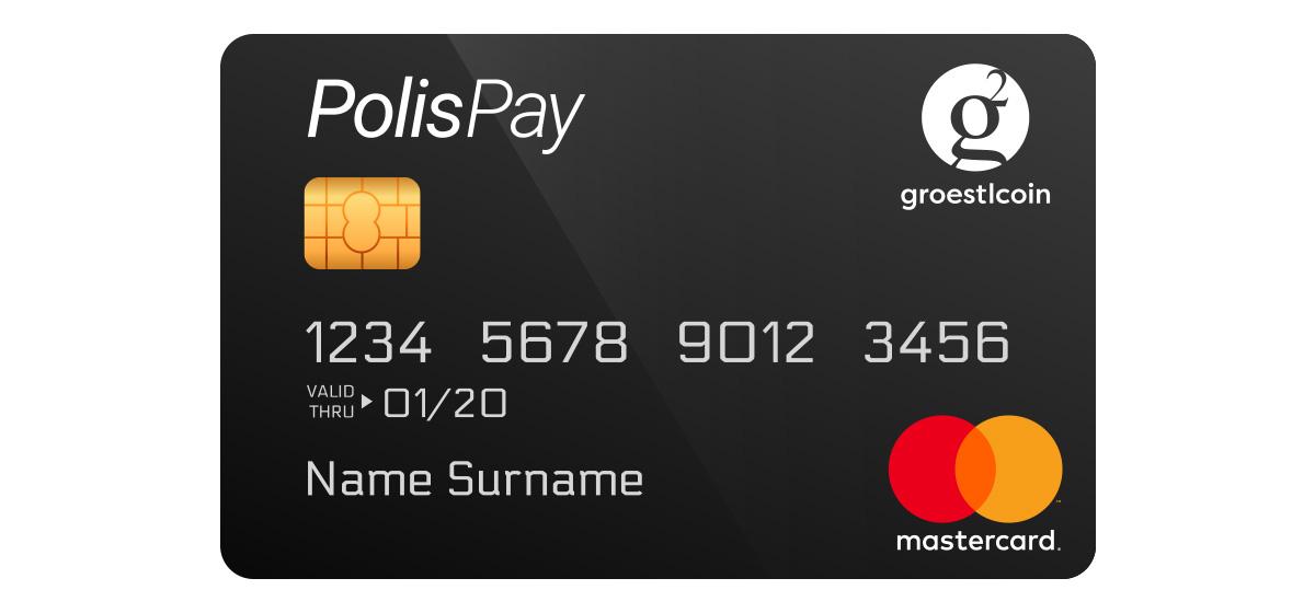 PolisPay - Debit Card for Groestlcoin GRS