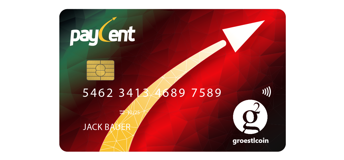 Paycent - Ruby Card for Groestlcoin GRS